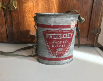 Vintage Falls City Wade in Minnow Bucket