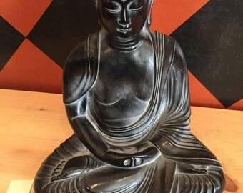 Vintage Buddha Statue Ceramic