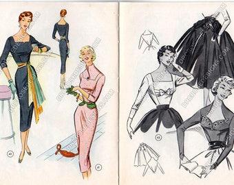 Vintage 1950s Lutterloh Supplement Booklet #62 August Quarterly Sewing Patterns