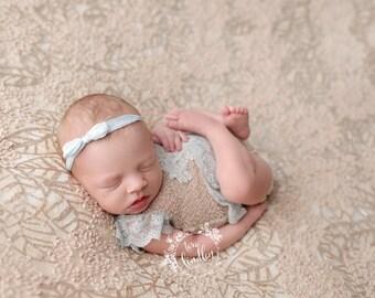 Newborn Photography Fabric Backdrop - Chaunva Backdrop in Beige - 2 Yards