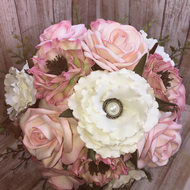 Ribbon Flower Bouquet Wedding Bouquet