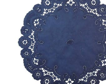 "NAVY BLUE French Lace Paper Doilies | 6"" 8"" 10"" Sizes 