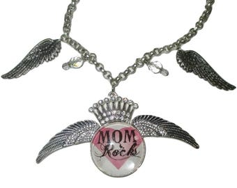 Mom Rocks Necklace...Mother's Day
