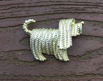 Vintage Jewelry Signed Sarah Coventry Dog Pin Brooch