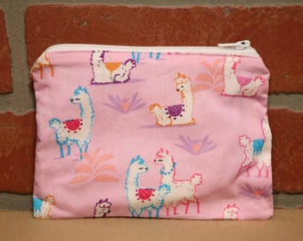 One Snack Sack, Reusable Lunch Bags, Waste-Free Lunch, Machine Washable, Llama, Back to School, School Lunch, item #SS66