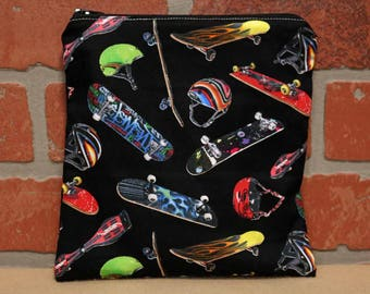One Sandwich Bag, Skate Boards, Reusable Lunch Bags, Waste-Free Lunch, Machine Washable, Sandwich Sacks, item #SS76