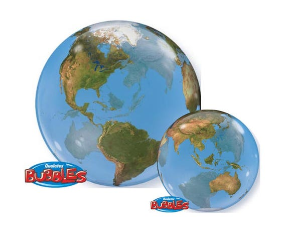 Planet earth bubble balloon 22 inch earth day hanging - Hanging planets decorations ...