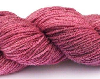 Aran yarn - Hand dyed Superwash Merino,   dusty pink