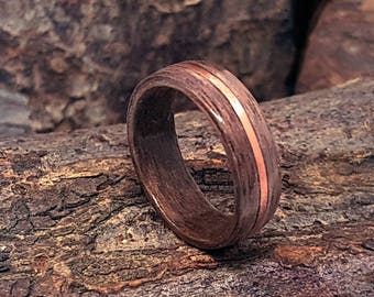 Walnut and Copper Bentwood Ring