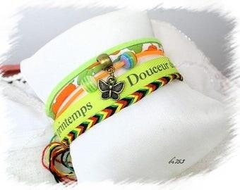 Neon multiliens BR753 Brazilian style Cuff Bracelet
