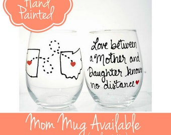 Mother's Day Gift Mother's Day, Gift for Mom, Mother daughter Gift, Mom wine glass, Long Distance Mom, Mother's Day Gift from Daughter