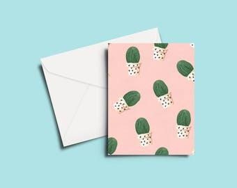 Cactus Pattern Greeting Card