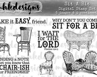 Sit a Bit Digital Stamp Set