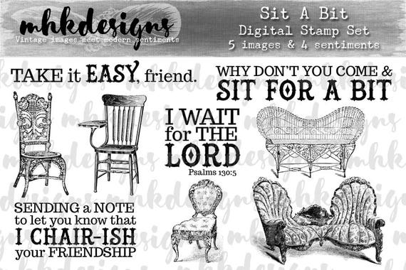 Sit a Bit Digital Stamp Set