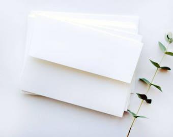 50 White RSVP Envelopes