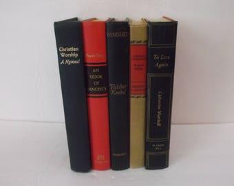Shabby Vintage Decorative Books Decoration - Chic and Shabby Vintage Book Decoration - 5 books Decorative Books