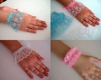 Lace wrist cuff bracelet, lace cuffs bridesmaid Wedding accessories flower girl