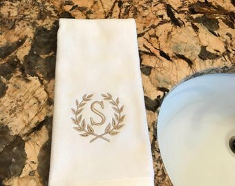 monogrammed hand towel a GREAT GIFT for any occassion!