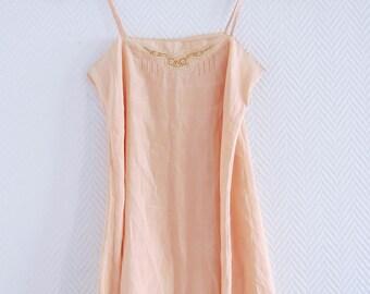 Pink silk camisole 1920 - 1930