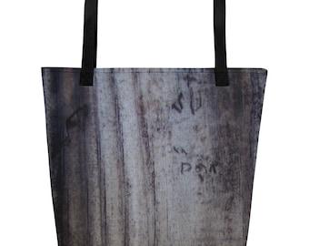 Woodgrain Beach Bag For Women