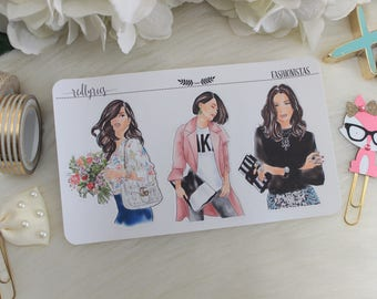 Fashionistas, Fashion Girls, Planner Stickers