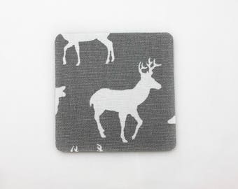 Woodland Deer Drink Coaster Set of 4 / Home Decor / House Warming Gift Idea / Accessories / Furniture Protector / Table Art / Elk / Antlers