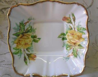 Vintage Royal Albert Tea Rose candy dish made in England