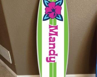 wall hanging surf board surfboard decor hawaiian beach surfing beach decor Teen Beach Movie