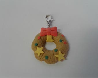 Christmas Cookie Necklace Charms Handmade Jewelry Wreath Tree Snowman Snowflake Gingerbread Man