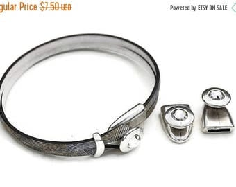 30% OFF 10MM Zamak Swarovski Crystal One Piece Clasp - Antique Silver - Qty. 2