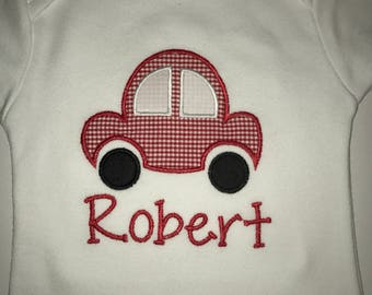 Boys' Personalized Transportation Appliqued Onesie