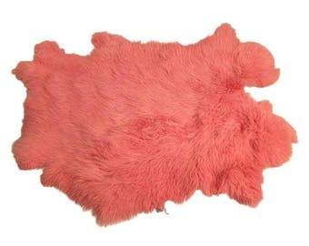Dyed Rabbit Pelt - Pink