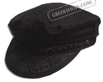 Greek Fisherman's Hat - Cotton - Black