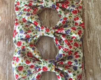 Wildflower Floral Print Bow, Girls Bow, Toddler Bow