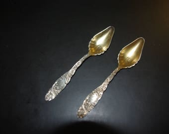 2 Whiting STERLING JELLY SPOONS