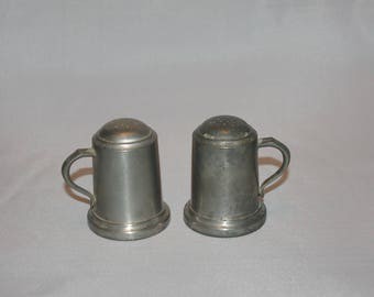 PEWTER SHAKERS by Web - Vintage Salt and Pepper Shakers
