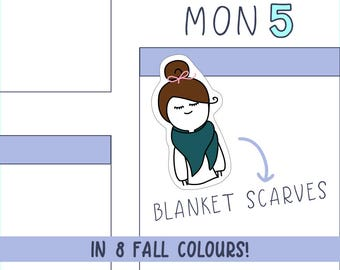 Blanket Scarves PLANNER STICKERS - 16 count sticker sheet