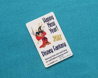 New Year's 2018 Sorcerer Mickey DCL Disney Cruise Light Card® card key switch activator for Fish Extender FE Gift