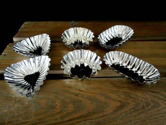 Set of 13 Tart Tins, Swedish Tart Tins, Candy Tins, Never Used, Ships Free