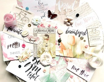 Embellishment Kit / Prima Love Story / Scrapbook Embellishment / Scrapbooking Supplies / Prima Flowers / Shabby Chic / New Prima / Vintage