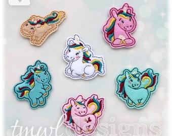 """Unicorn Feltie Set Digital Design Files - 1.75"""""""