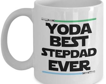 Yoda Best Stepdad Ever Star Wars Birthday Funny Nerd Gift for family