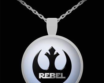 Star Wars Rebel Gift Necklace Resist Resistance Nerd Warrior (Choice of Metal)