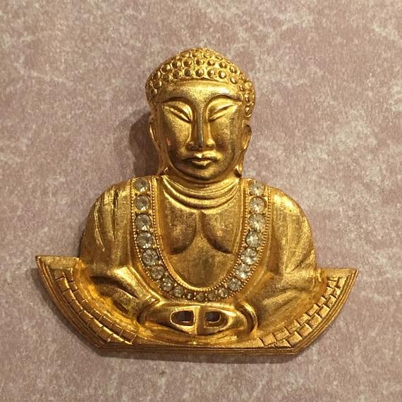 Eisenberg Buddha Brooch, Rare, signed piece