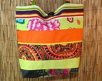 Fabric Patchwork shoulder Sam Collection tote bag