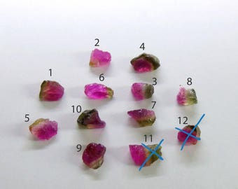 Rare Watermelon Tourmaline Raw Rough Crystals top facet Beautiful Very Clear Price Per Piece, tourmaline rubelite natural slice, untreated