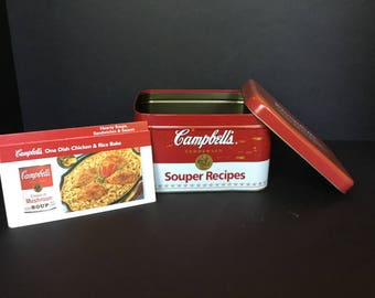 Campbell Soup recipe box with recipes