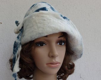 Chic hand felted wool hat