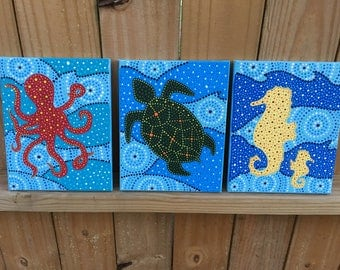 Sea Creature Dot Art