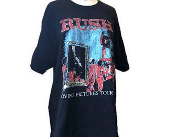 Rush Moving Pictures Tour 1981 Vintage Concert T-shirt